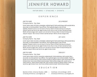 "Creative Resume Templates | CV Templates + Cover Letter | Modern Resume Designs | Mac or PC | Fully Customizable (""Hancock"")"