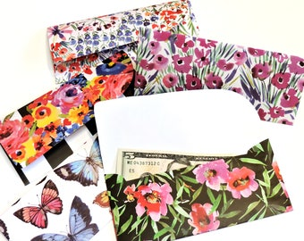 Floral Budget Envelopes, Cash System Envelopes, Monetary Wedding Gift Paper Pouches, Flower Financial Organizing Envelopes itsyourcountry