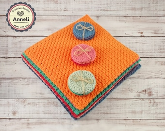 WASHCLOTH/ dishcloths/ 100% ORGANIC COTTON/ handmade washcloth/ wash cloth/ crochet washcloth/  crochet dishcloths/ dish cloth