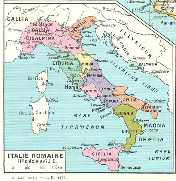 Map of Italy 1948 Vintage Italy map Antique map of Italy gift