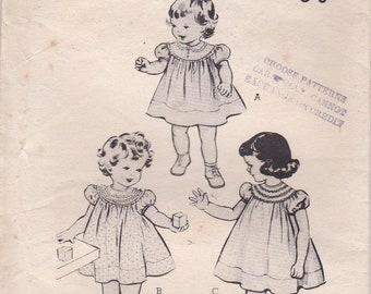 1950's Sewing Pattern - Butterick No 6177 Girls Dress, Size 4 UnCut, Factory Folded
