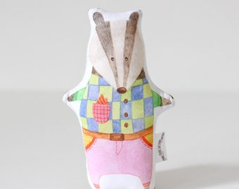 Badger Baby Rattle