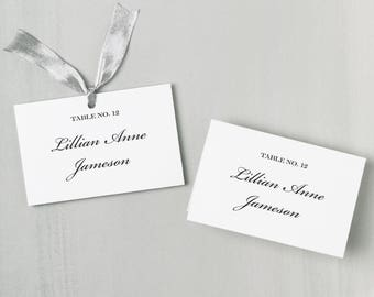 Printable Place Card Template | INSTANT DOWNLOAD | Formal Script Escort Card | Editable Colors | Mac or PC | Word & Pages | Flat or Folded