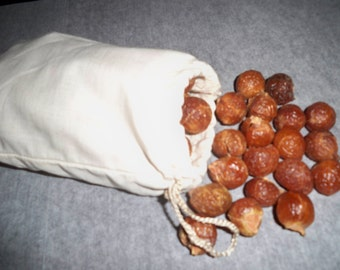 """Organic Soap Nuts, includes a 3""""x4"""" cotton bag"""