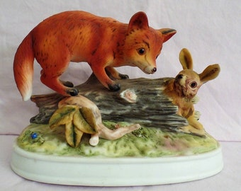 JOSEF FOX SCULPTURE Original Wildlife Series-Hard to find Josef Original Collection- rare