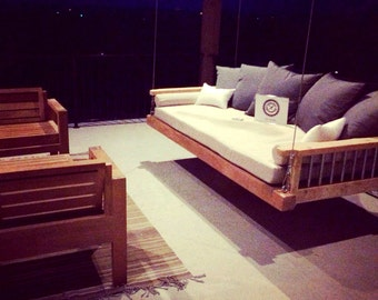 Custom Porch Swing Bed - Outdoor bed - Modern swing - Outdoor Furniture