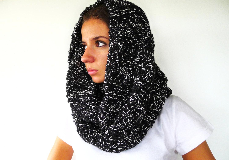 Bufanda capucha negra para mujer bufandas de lana originales - Bufandas de lana originales ...