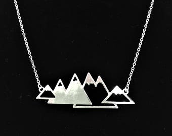 Silver Mountain Necklace - Large \\ Silver Jewelry \\ Silver Chain