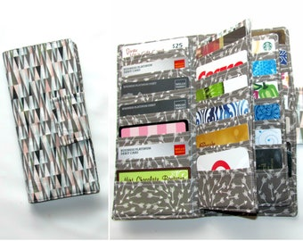women's wallet 38 Business Card Organizer, Credit Card Organizer Wallet, 38 Slot Card Loyalty, Card Organizer Case, Scandi Peaks