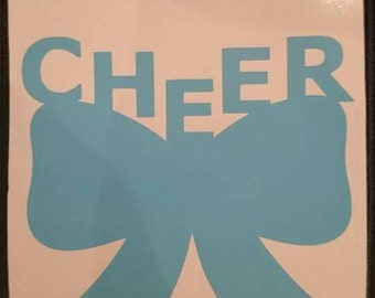 Cheer bow vinyl sticker