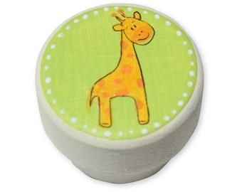 Drawer Handles, Giraffe Knobs, Dresser Handles, Dresser Knobs and Pulls, Drawer Knobs and Pulls, Wooden Handles, Jungle Nursery