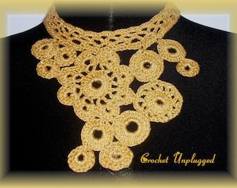 Metallic Gold Motif Necklace