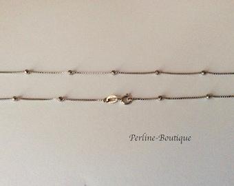 45cm 925 sterling silver satellite chain