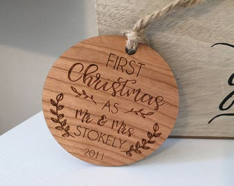 Marriage Ornament | Just Married Ornament | Couples Ornament | Wedding Ornament | Newlywed Ornament | Couples Christmas Ornament | Engaged