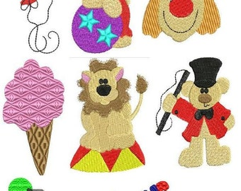 Circus - INSTANT DOWNLOAD - Machine Embroidery - 4x4 hoop