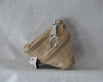 keychain or small wallet caramel fully zipper