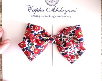Liberty of London baby bow clip, Floral bow clip, toddler bow clip, girl hair accessories