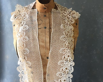 Vintage Lace Collar, Ivory