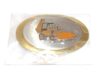 Vintage NOS Case Tractor Loader Backhoe Belt Buckle - Still Sealed