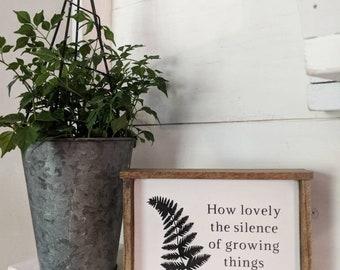 Farmhouse inspired botanical mini sign