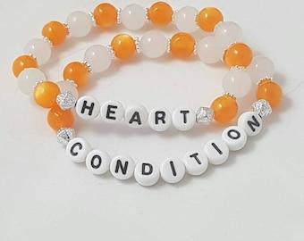 Medical ID Bracelet, Heart Condition Alert Bracelet