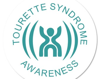 MEDICAL ALERT Tourette Syndrome Awareness - Round Window or Bumper Stickers (Choose Pack Size)
