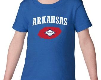 Arkansas State Flag State University of Arkansas Razorbacks Hogs  American Toddler Kids Shirts