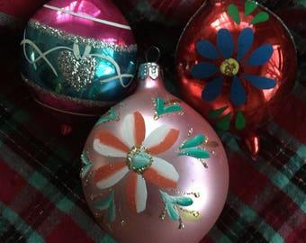 Vintage Blown Glass Ornaments