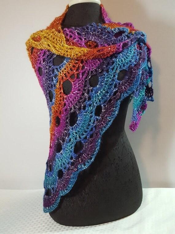 Sunset shawl, beach wedding, crochet lace shawlette, Mothers Day wrap, bridesmaids shawl, boho chic shawl, Mexicana shrug, prom dress shawl