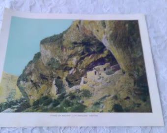 Vintage 40s Cliff Dwellers Print