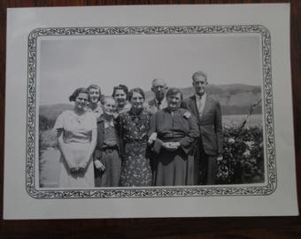 Northern California Family Photograph 1940s Black and White