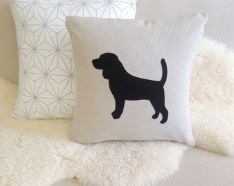 Beagle Appliqué Pillow Cover - Custom Colors