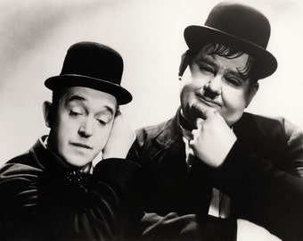 Laurel and Hardy Comedy Movie Film Stars,  Hollywood Glossy Black & White Photo Print Picture - 7x5, 10x8, A4