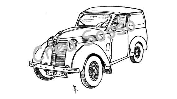Porte cl s dessin voiture ancienne renault juva 4 - Dessin renault ...