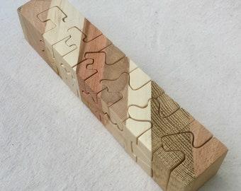 Jigsaw puzzle 3D multi - color - 12 pieces
