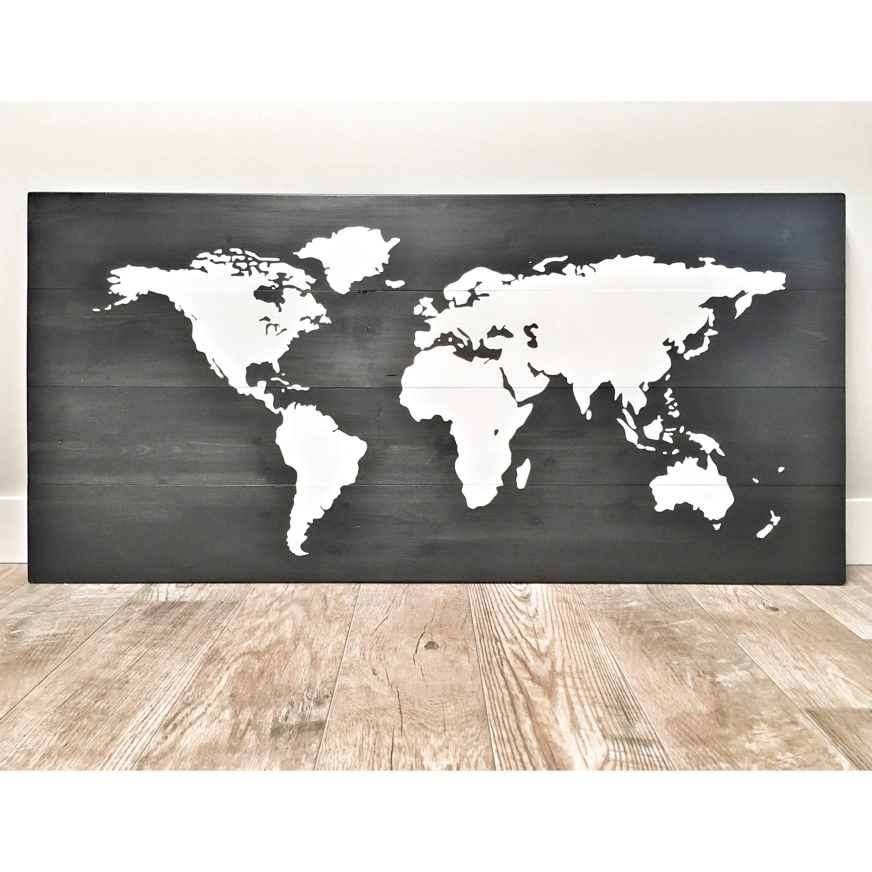 Huge large rustic wood world map rustic decor farmhouse decor huge large rustic wood world map rustic decor farmhouse decor rustic nursery decor wall decor wooden white world map 46 x 22 gumiabroncs Gallery