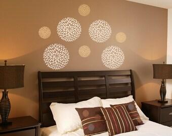 Flower Wall Decals -Flower Decals-Bloom Decals-Flower ornament Decals- Bloom Decals WallPaper-Wallpaper decals