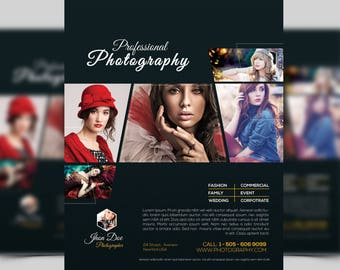 Photography Flyer Template | Marketing Flyer for professional Photographer