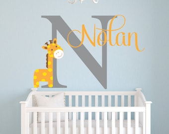 Baby Boy Wall Decal Etsy - Nursery wall decals ukbaby nursery wall decor uk baby room wall art uk grey and yellow