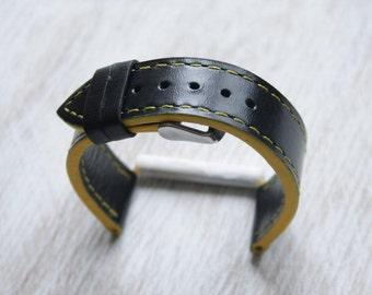 Leather Watch Strap   Gray Watch Strap   Leather Watch Strap   Genuine Leather Strap   Black Watch   Leather Watch   Gray matte Band