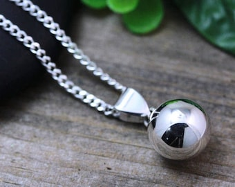 Silver Harmony ball necklace, Pregnancy necklace, Silver Fairy ball necklace, expectant mother, maternity jewelry, Choose chain, Chime, 5170