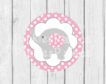 Baby Elephant Stickers Envelope Seals Pink Baby Shower Envelope Seal