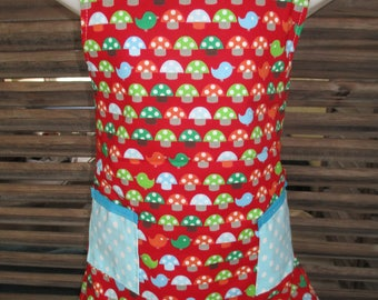 reversible kids apron size 3-6 years