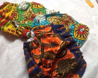 African Ankara Kente print cotton diaper nappy cover bloomers
