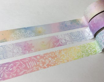 SAMPLE Washi Tape Taiwan masking tape Lace Inkfool Dreamy flower & grass