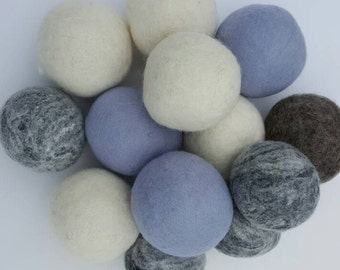 Wool Felted Dryer Balls - Featured in the Spring 2016 edition of Vogue Knitting - 3 per package
