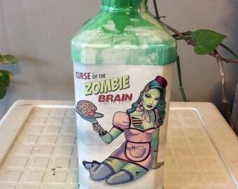 Zombie pinup girl jack daniels bottle