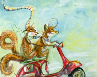 Foxy ride A4 PRINT