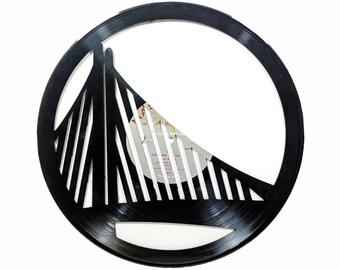 Bay Bridge Vinyl Record Art