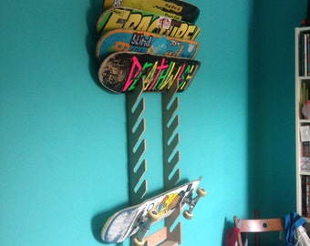 Skateboard Rack. Holds up to 12 board.
